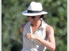 Meghan Markle Wears Patterned Dress While Supporting
