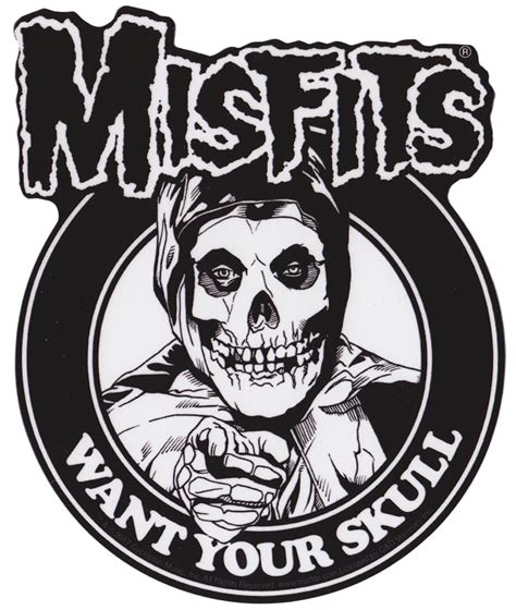 MISFITS I WANT YOUR SKULL STICKER | Misfits skull, Misfits ...