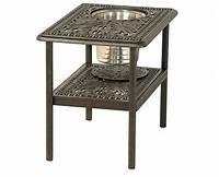 """fine patio side table Grand Tuscany By Hanamint Luxury Cast Aluminum 20"""" x 28"""" Patio Furniture Ice Bucket Side Table"""