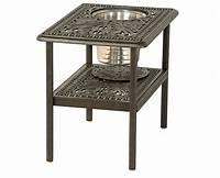 "fine patio side table Grand Tuscany By Hanamint Luxury Cast Aluminum 20"" x 28 ..."