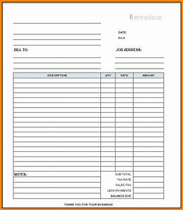 Blank Construction Invoice | Blank invoice template