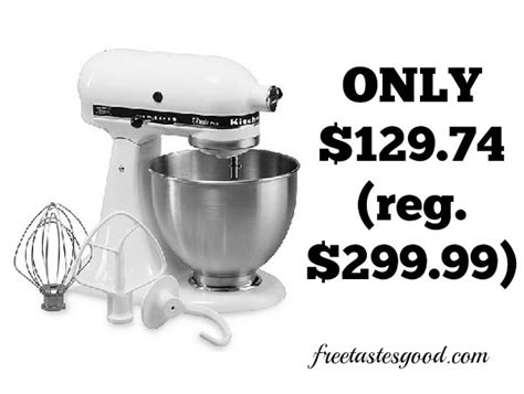 Kitchenaid Attachments At Kohl S by Kohls Kitchenaid Ksm75 Classic Plus 4 5 Qt Stand Mixer
