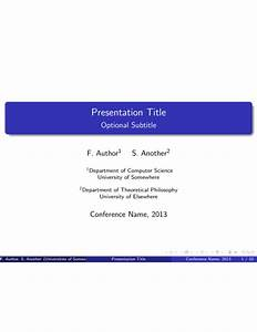 conference presentation latex template sharelatex With latex presentation template powerpoint