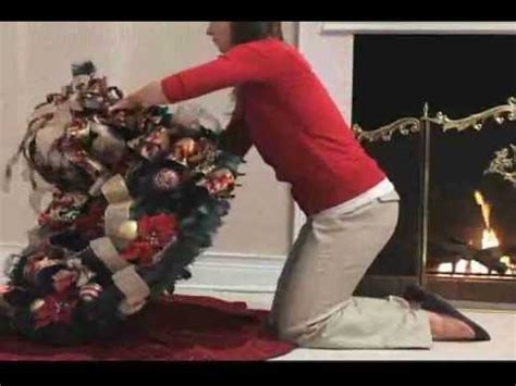 Pre Lit Christmas Tree No Lights Working by 6 1 2 Ft Pre Decorated Pull Up Christmastree Youtube