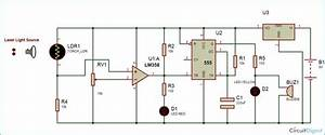 Laser Security Alarm Circuit Diagram