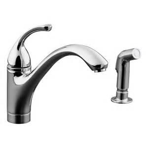 kohler faucet kitchen shop kohler forte polished chrome 1 handle low arc kitchen faucet at lowes com