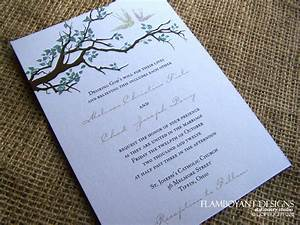 wedding invitations romantic country chic swooping With wedding invitations with trees branches