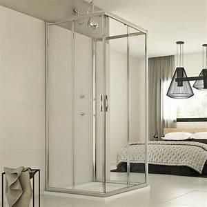 Cabine De Douche Verre Opaque : cabine de douche paroi douche 3 parois ouverture angulaire ~ Edinachiropracticcenter.com Idées de Décoration