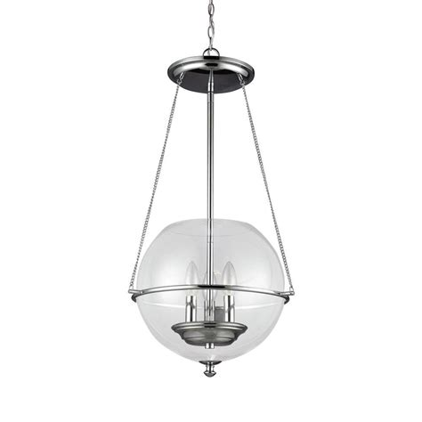seagull lighting pendant sea gull lighting havenwood 3 light chrome indoor pendant