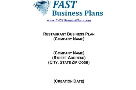3+ Restaurant Business Plan Template Free Download Business Plan Example Insurance Cheap Cards New Zealand Proposal Memo Sample Key Elements Objectives Keywords In Houston Tx Title