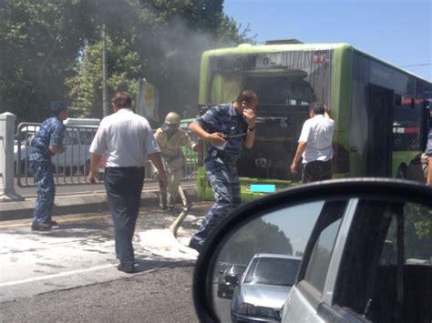 возле остановки 171 чорсу 187 загорелся автобус новости