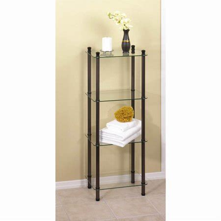 Metal Etagere Tower by 4 Shelf Rubbed Bronze Tower L Etagere Walmart