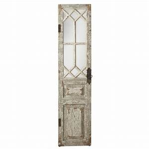 Wooden door wall decor : Vintage style distressed wood door mirror wall panel