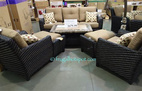 agio international patio furniture costco agio international 6 pc woven seating 1 679