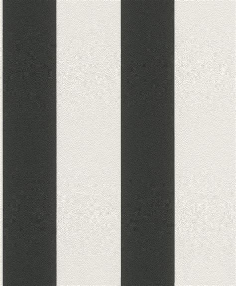 Tapeten Schwarz Weiß Gestreift by Tapete Schwarz Wei 223 Gestreift Tapete Vlies Gestreift