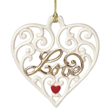 Love Pierced Heart   Lenox Christmas Ornament   Disney Ornament