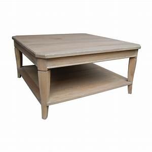 Table Carree Chene : table basse carr e en ch ne ~ Teatrodelosmanantiales.com Idées de Décoration