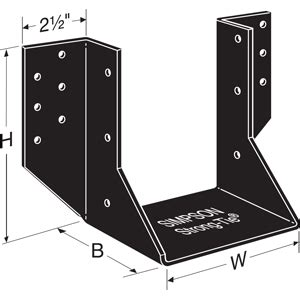 Black Decorative Joist Hangers by Ohu Specialty Joist Hanger