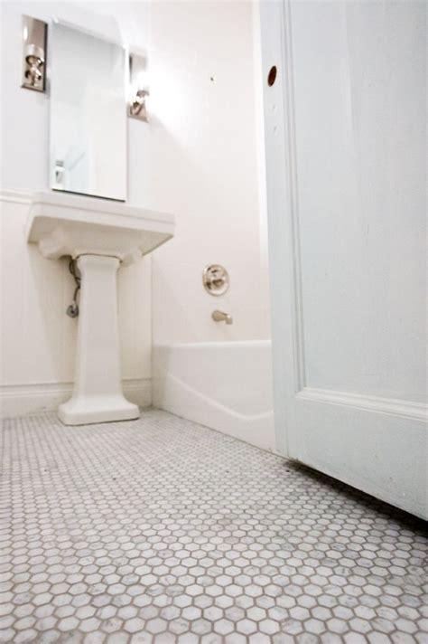 marble hexagon floor tiles with light grey grout mondial