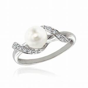 Classy pearl engagement rings aelida for Pearl engagement ring with wedding band