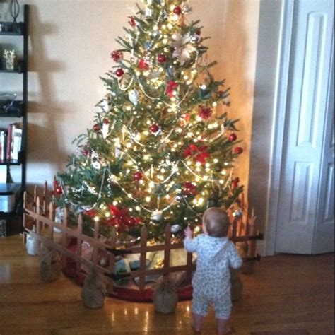 keep christmas tree away from baby my diy christmas tree baby gate landscape edging held
