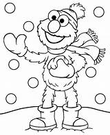 Coloring Winter Elmo Pages Printable Snow Topcoloringpages Sheet Adults Funny Sesame Children Street Pdf sketch template
