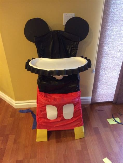 Mickey Mouse High Chair Decorations - high chair decor for mickey mouse themed 1st birthday