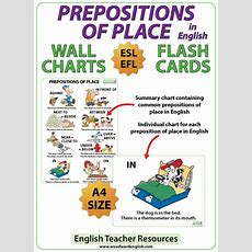 Prepositions Of Place  Esl Charts  Flash Cards  Woodward English