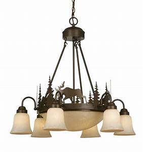 Rustic chandeliers timberland downlight chandelier black