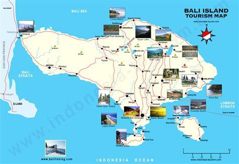 bali tourist map bali indonesia mappery