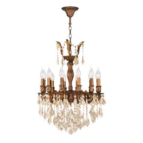 Gold Chandelier by Worldwide Lighting Versailles 12 Light Gold