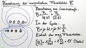Elektrisches Feld Berechnen : magnetischer fluss und magnetische flussdichte b ~ Themetempest.com Abrechnung