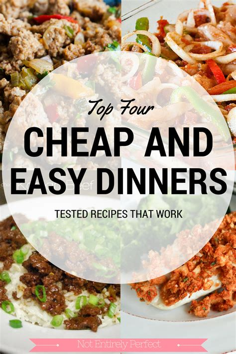 cheap and easy dinner not entirely perfect cheap and easy dinners