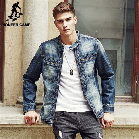 Pioneer Camp 2017 new arrival Denim Jacket Men Fashion brand clothing Jeans Jackets Male Spring ...
