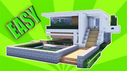 Minecraft Modern Mansion Build Tutorial Easy Houses