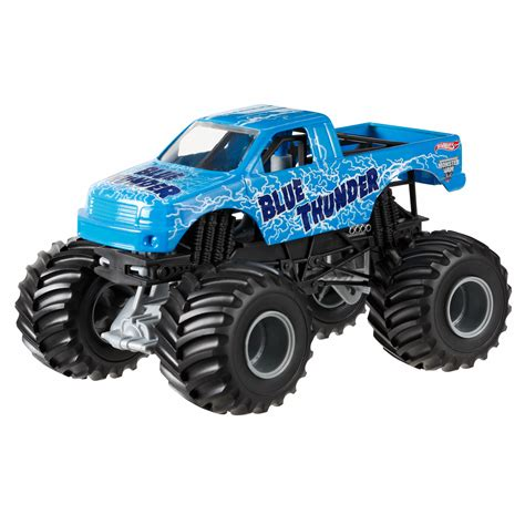 wheels monster truck videos wheels monster jam blue thunder toys games