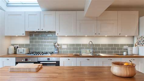 design of kitchen furniture white shaker kitchen with wooden worktops burwash east