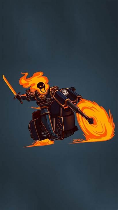 Ghost Rider Wallpapers Minimalism Android S7 Screen