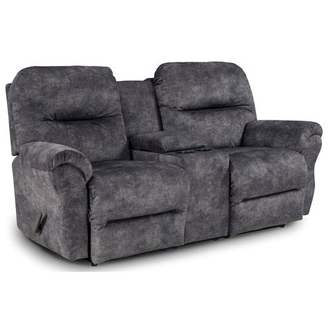 rocker recliner loveseat with console rocking reclining loveseat with storage console by best