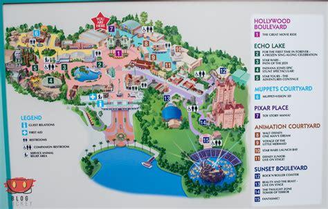 park maps  hollywood studios blog mickey