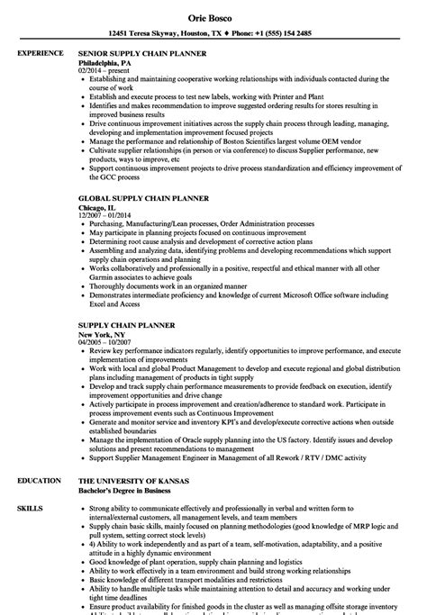 Supply Chain Planner Cover Letter by 10 Demand Planner Resume Sle Cover Letter