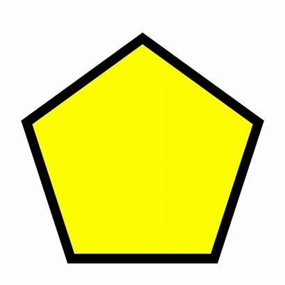 Pentagon Clipart Shape Yellow Math Outline Pentagono