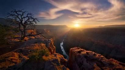 Canyon Grand Arizona Sunset National Landscape Sun