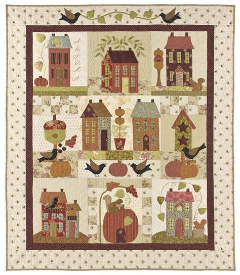 house quilt patterns autumn house quilt pattern by bunny hill designs ebay