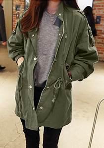 Army Green Windbreaker Jacket