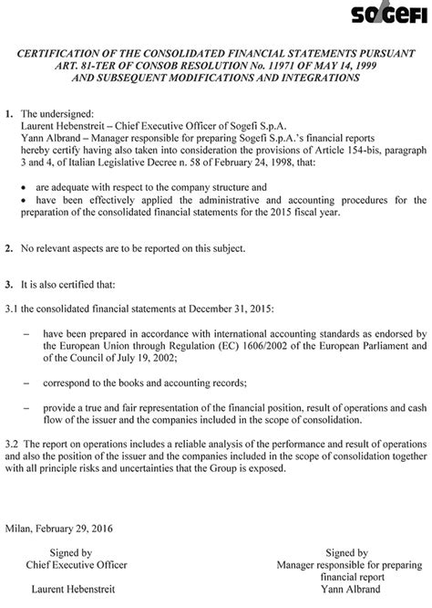 financial statement cover letter sle certification letter for financial statements 28 images