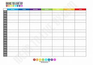 Weekly Schedule Tracker - Ideas to Live By
