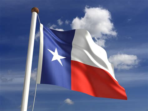 office  raises flag   lone star state