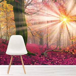 Enchanted Forest Wall Mural Pink Trees Wallpaper Girls