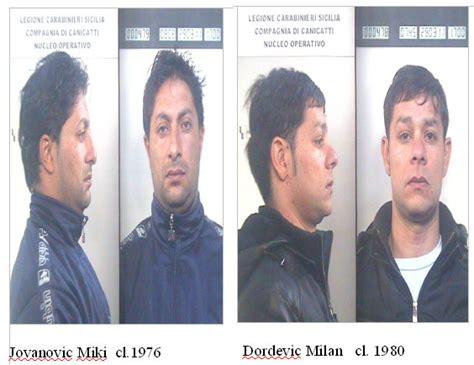 Prefettura Di Agrigento Ufficio Immigrazione by Racalmuto I Carabinieri Arrestano Due Pregiudicati Serbi